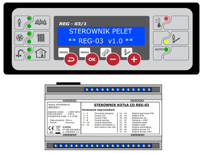 Sterownik palnika REG-03